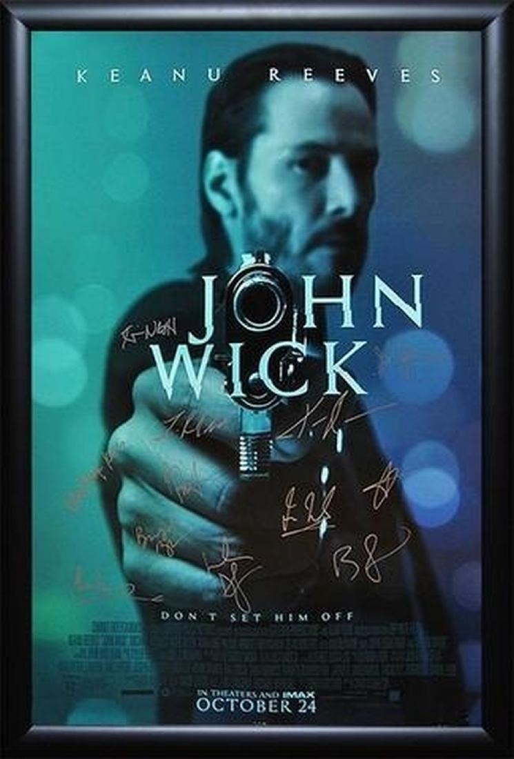 John Wick Signed Movie Poster