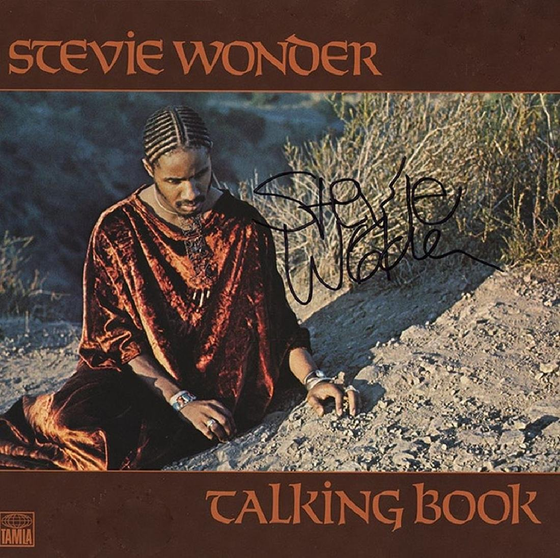 "Stevie Wonder ""Talking Book"" Signed Album"