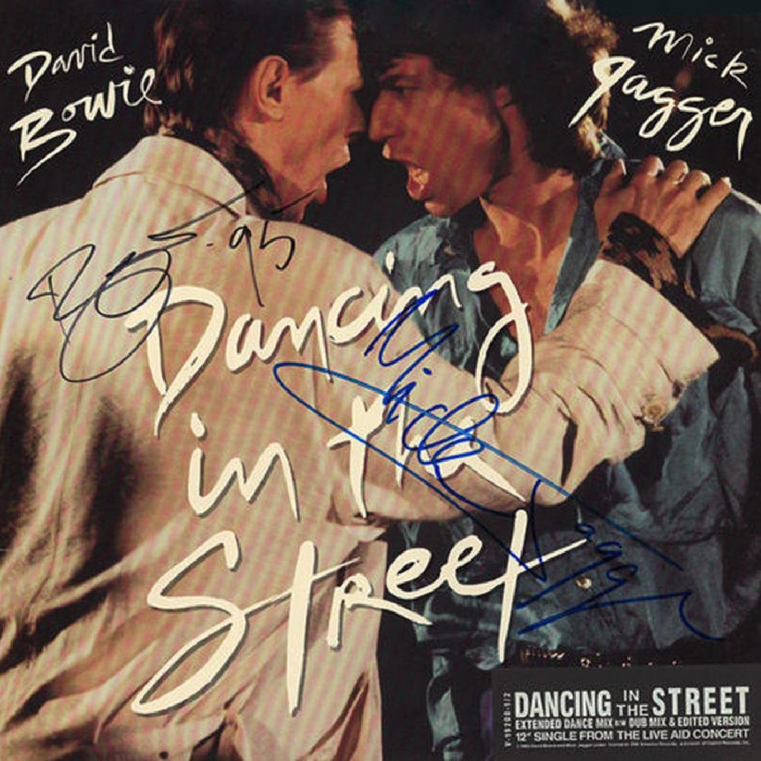"""Mick Jagger David Bowie """"Dancing In The Streets"""" Signed"""