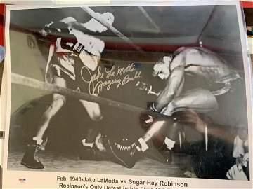 PSA/DNA Jake Lomotta Signed 16x20 Poster w/ Inscription