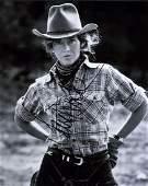 Jane Fonda Signed B&W Photo
