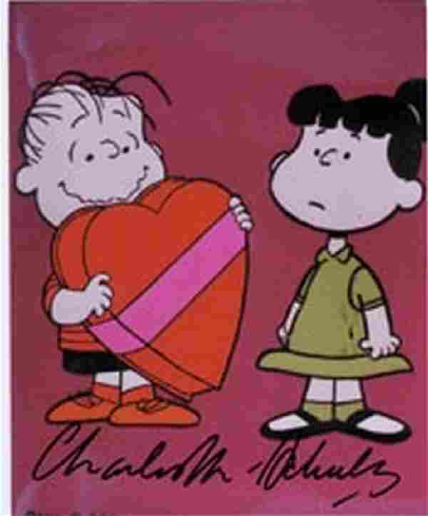 Charles Schulz Signed Peanuts Photo