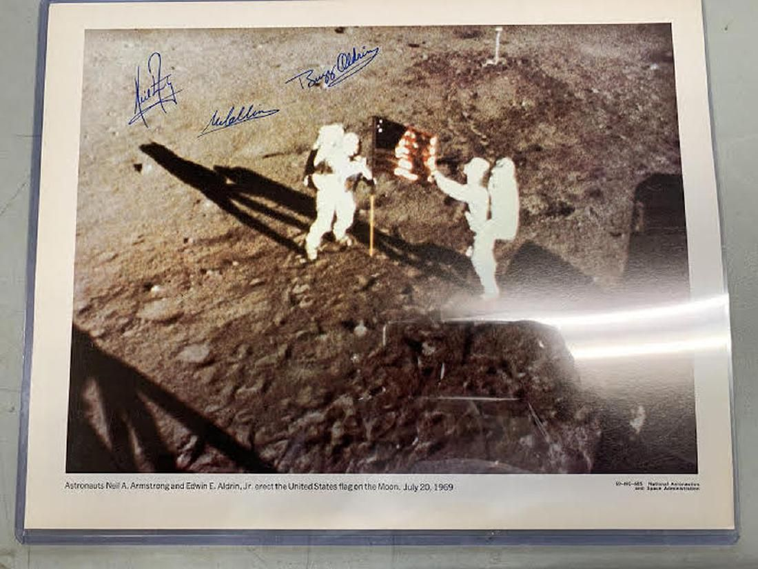 Apollo 11 Crew Signed 11x14 Photo