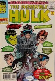 JSA Stan Lee Signed The Incredible Hulk Comic