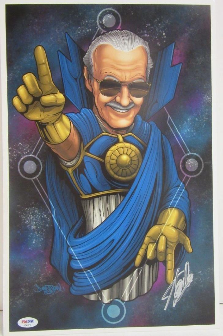 PSA Stan Lee Signed Comic Print