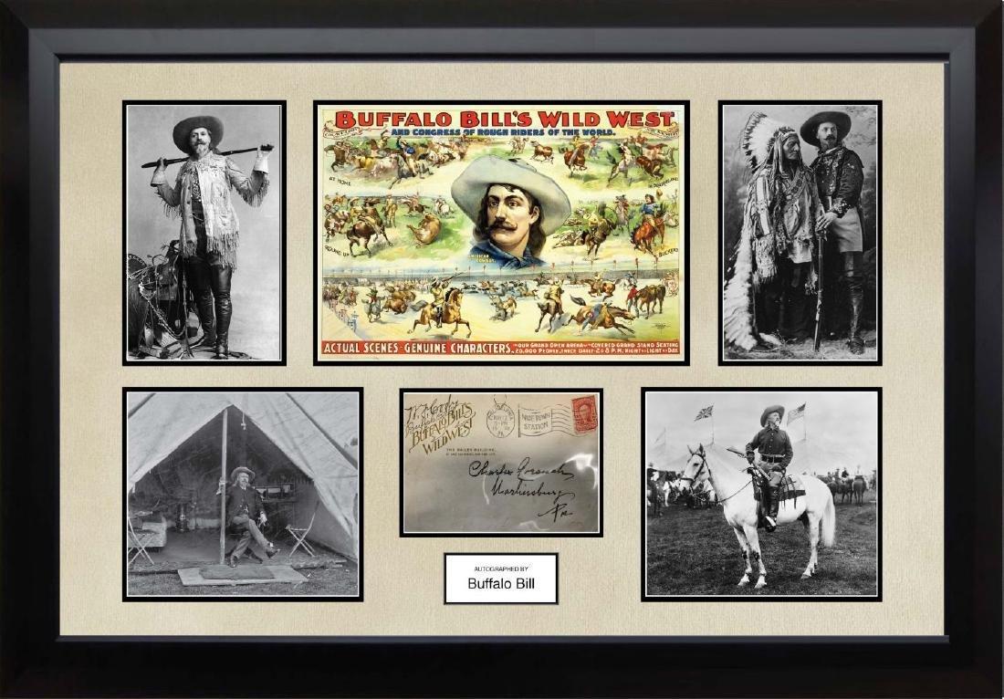 Buffalo Bill Signed Envelope Collage