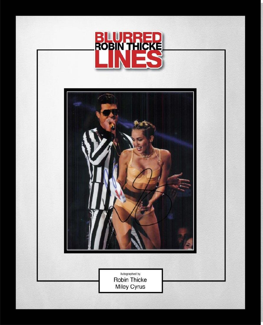 Blurred Lines Signed Collage