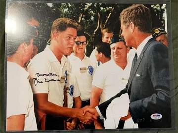 PSA/DNA Bill Clinton Signed Meeting JFK Photo