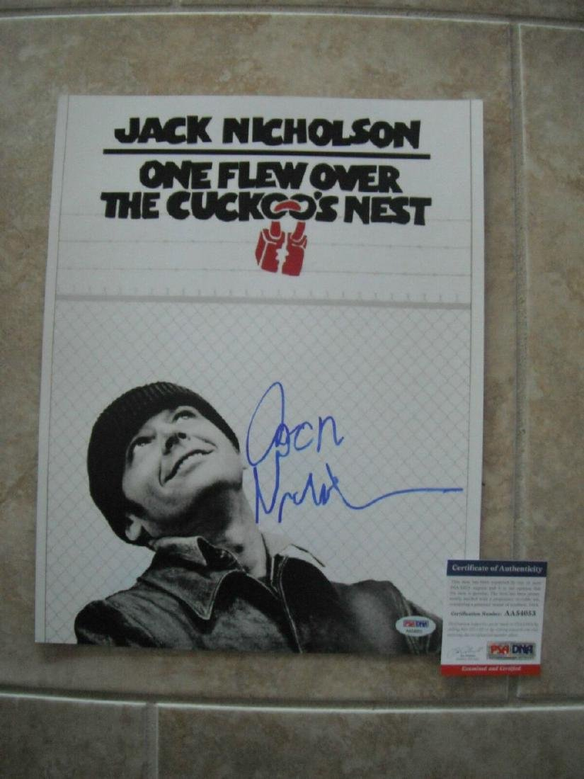 ONE FLEW OVER THE CUCKOO'S NEST Jack Nicholson Signed