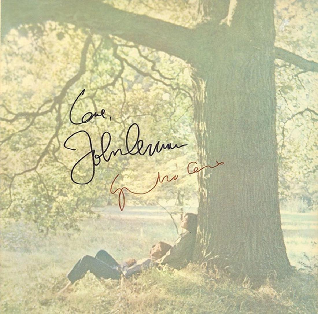 John Lennon Yoko Ono Signed Plastic Ono Band Album