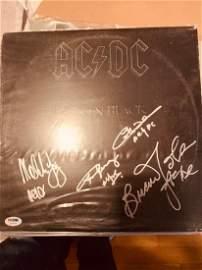 PSA/DNA Authenticated AC/DC signed Album