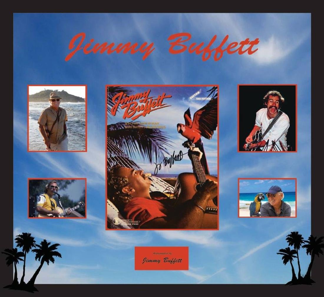 Jimmy Buffett Signed and Framed Tour Book - Mar 22, 2019 | High End