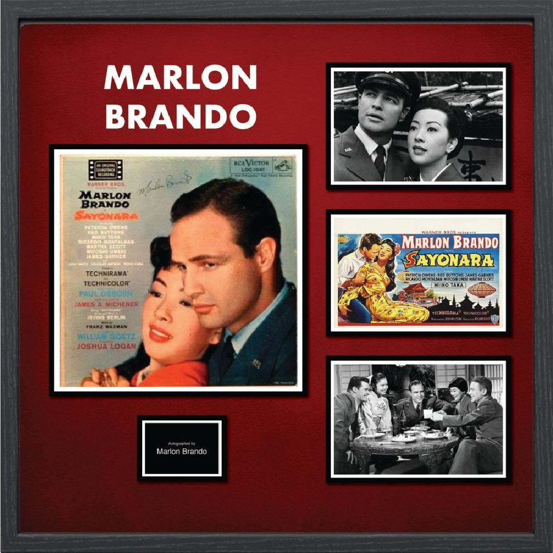 Marlon Brando Signed Collage