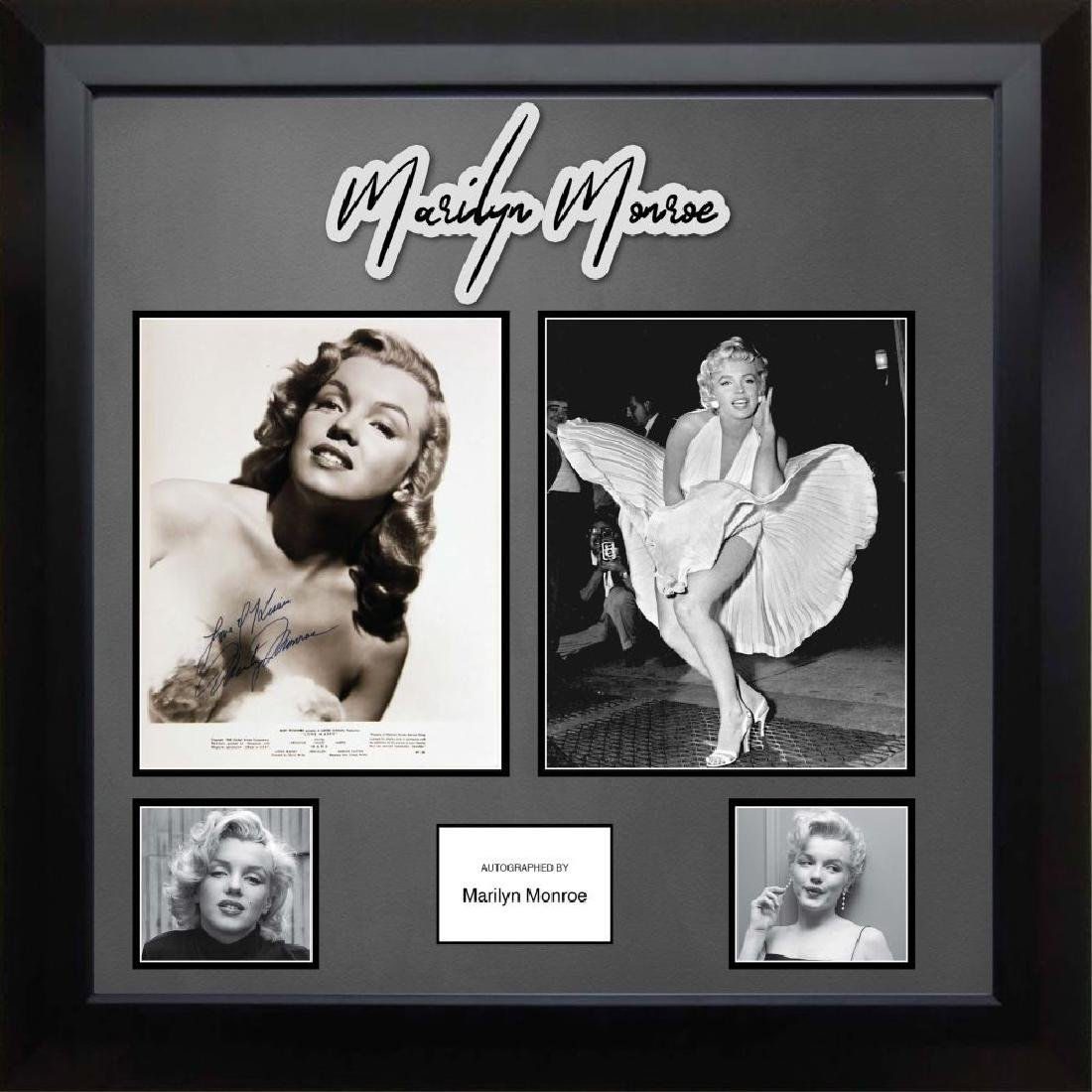 Marilyn Monroe Signed Photo Collage