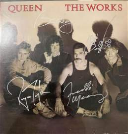 PSA/DNA Queen Signed The Works Album
