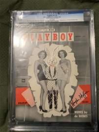 PSA/DNA Hugh Hefner Signed 2nd Playboy Magazine