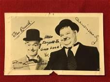 PSA/DNA Stan Laurel Postcard Signed Autograph Laurel &