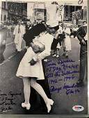 PSA/DNA Times Square Kissing Couple signed Photo