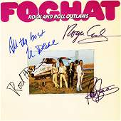 Foghat Band Signed Rock And Roll Outlaws Album