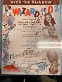 Wizard of Oz Cast Signed Sheet Music