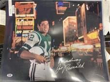 PSADNA Joe Namath Signed 16x20 Poster