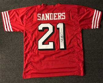 Deion Sanders Signed 49ers Jersey