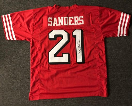 info for 74718 5aa61 Deion Sanders Signed 49ers Jersey - Apr 20, 2019 | High End ...