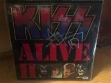 PSA authenticated Gene Simmons and Ace Frehley Kiss