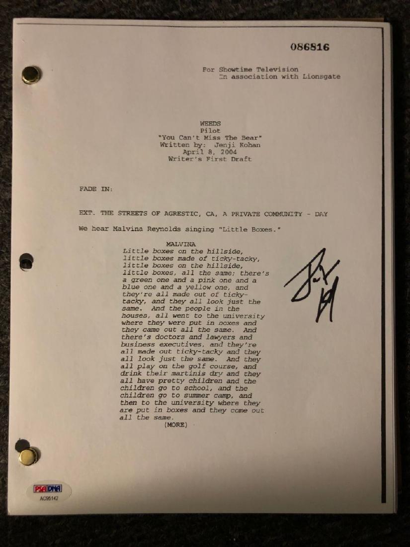 PSA Authenticated Weeds Signed Pilot Script