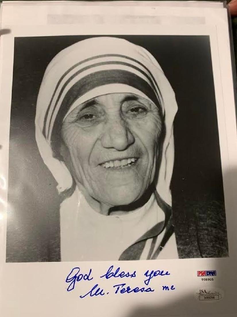 PSA Mother Teresa Signed Photo