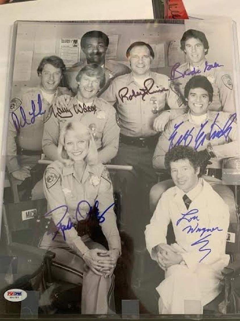 PSA Chips Cast Signed Photo