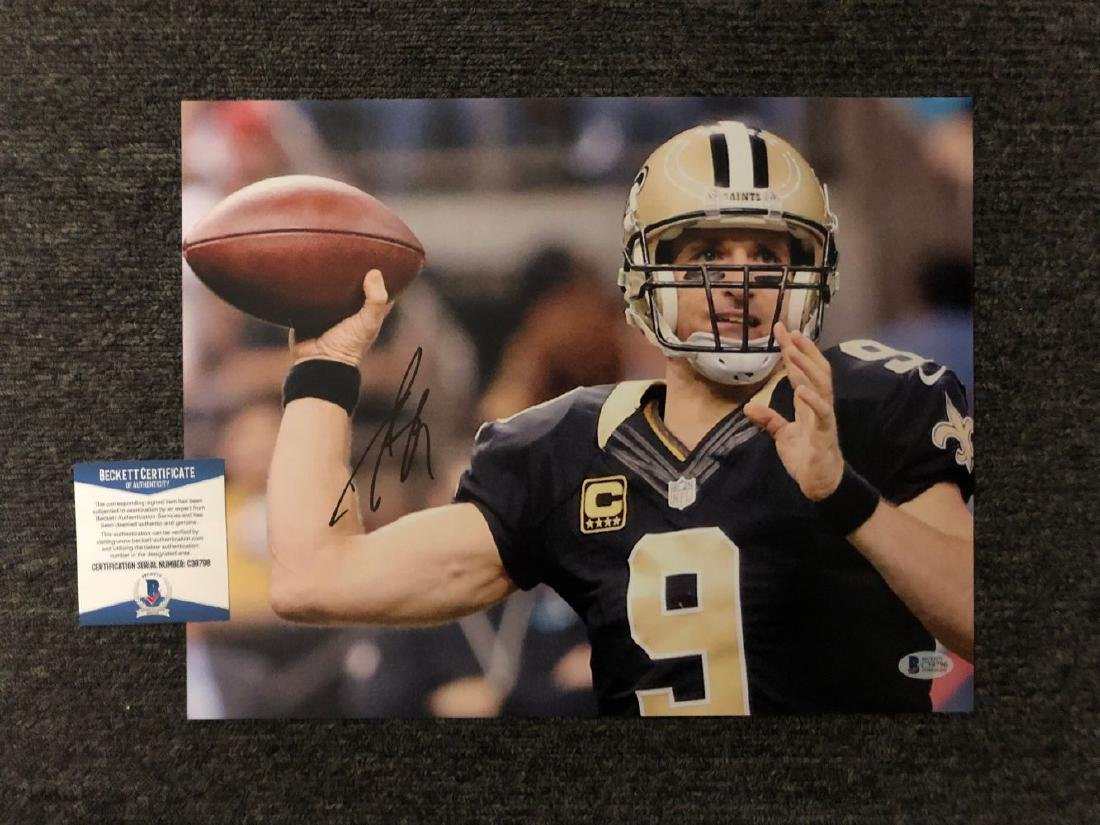 Beckett Authenticated Drew Brees Signed Photo