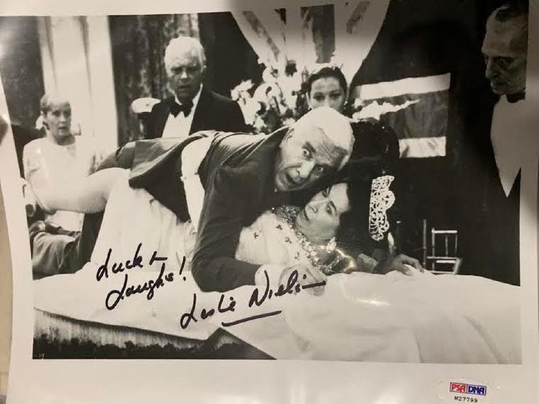 PSA Leslie Nielsen Signed Photo