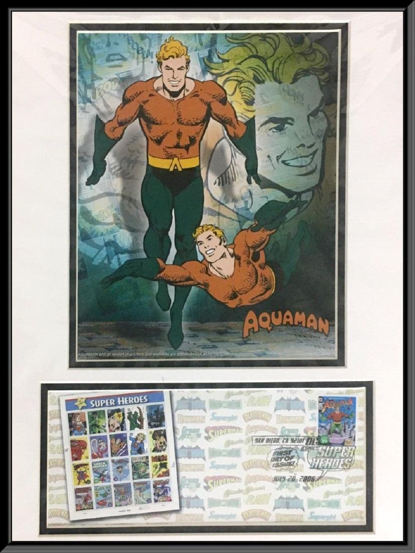 First day of issue. DC Comic Super Heroes, Aquaman