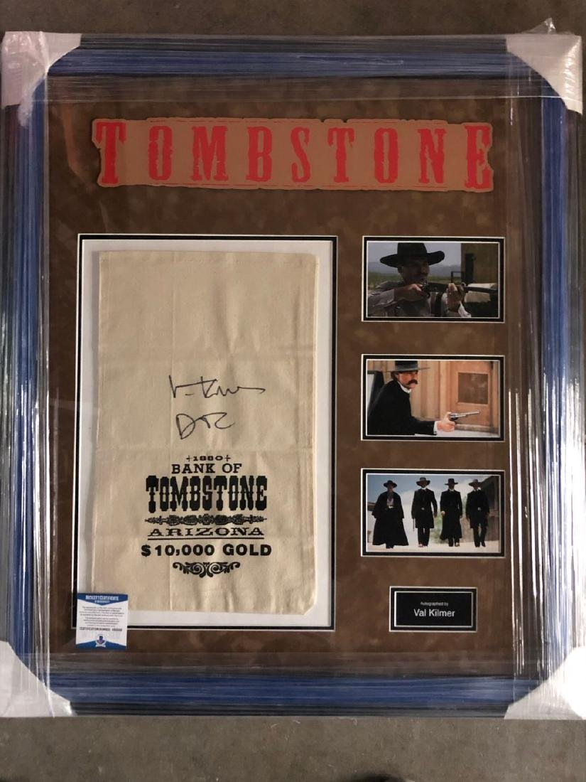 Val Kilmer Signed Tombstone Moneybag Collage