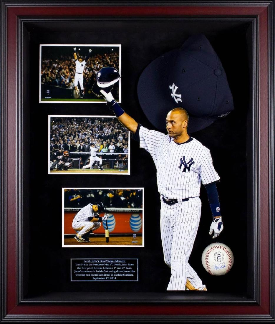 Derek Jeter Signed Baseball Collage