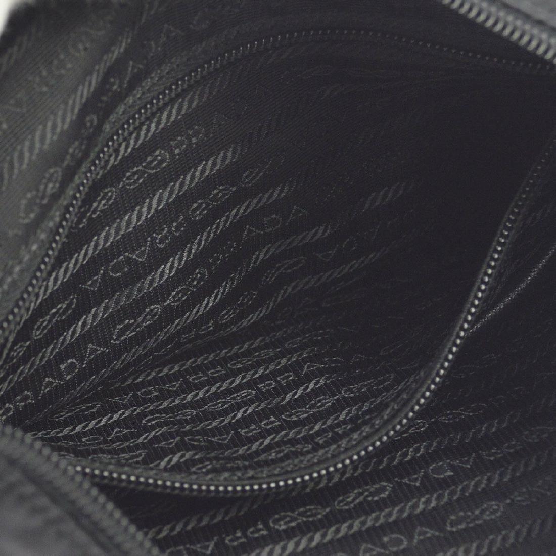 PRADA Logos Shoulder Bag Black