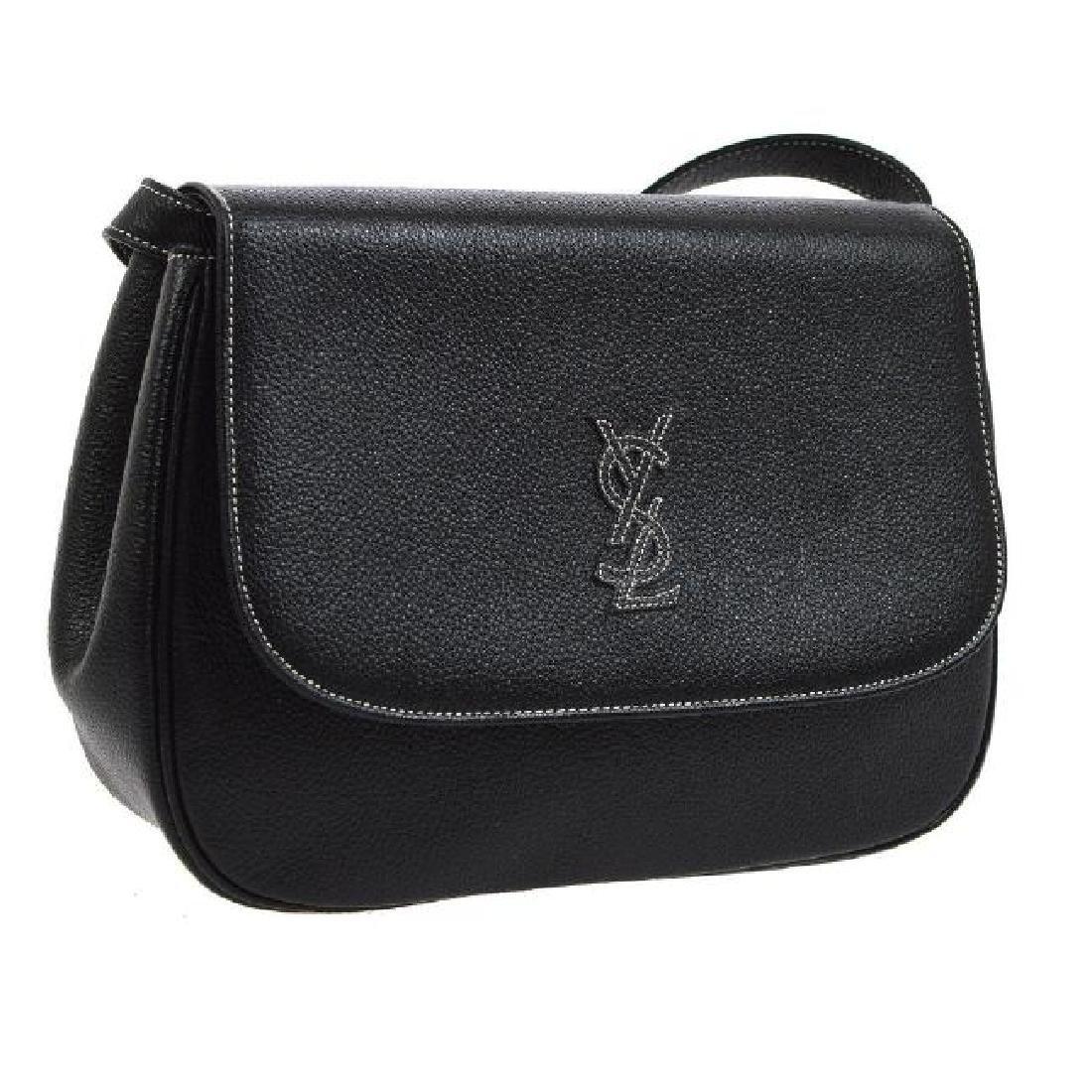 Vintage YSL Cross Body Shoulder Bag: Black