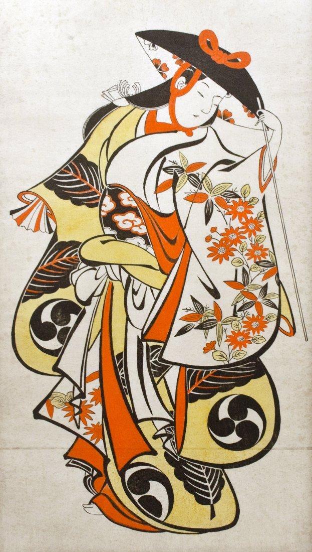Japanese Woodblock Print by Torii Kiyonobu