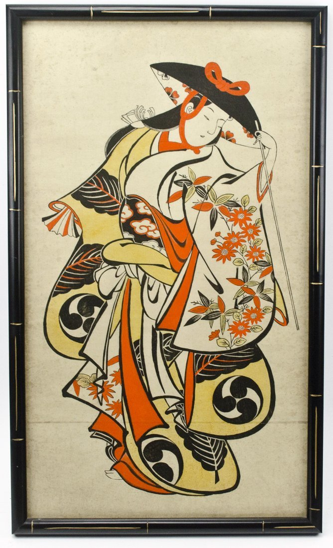 Japanese Woodblock Print by Torii Kiyonobu - 3