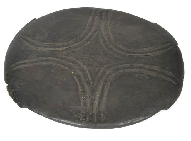 Carved African Feast Wooden Platter - 3