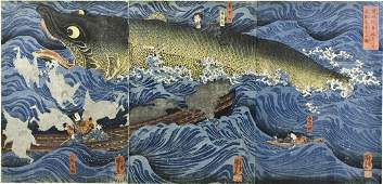 Japanese Woodblock  by Utagawa Kuniyoshi 19th Century