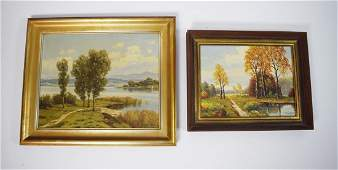Edwin Bachman and Rutner Landscapes Oil on Canvas