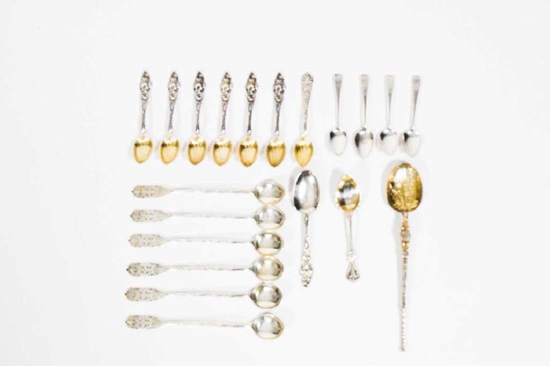 Lot of English and Peru Sterling Silver Spoons - 3