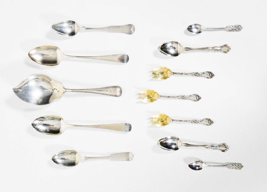 English, American and Peru Sterling Silver Spoons