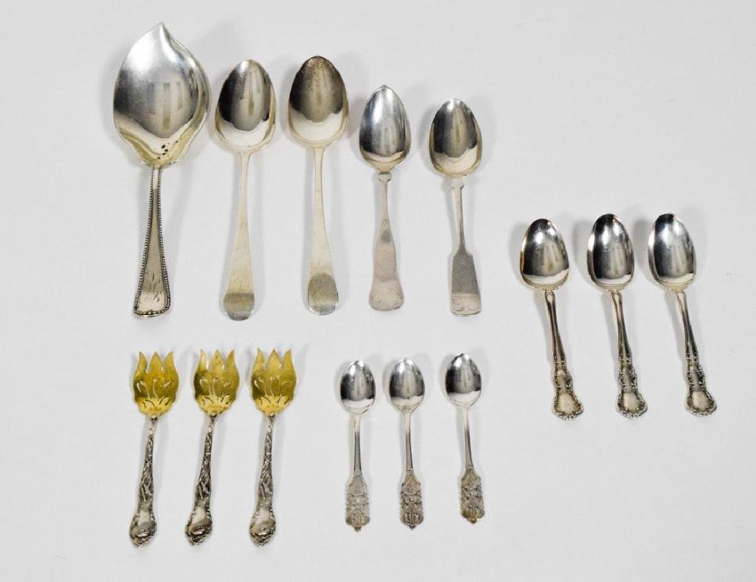English, American and Peru Sterling Silver Spoons - 6
