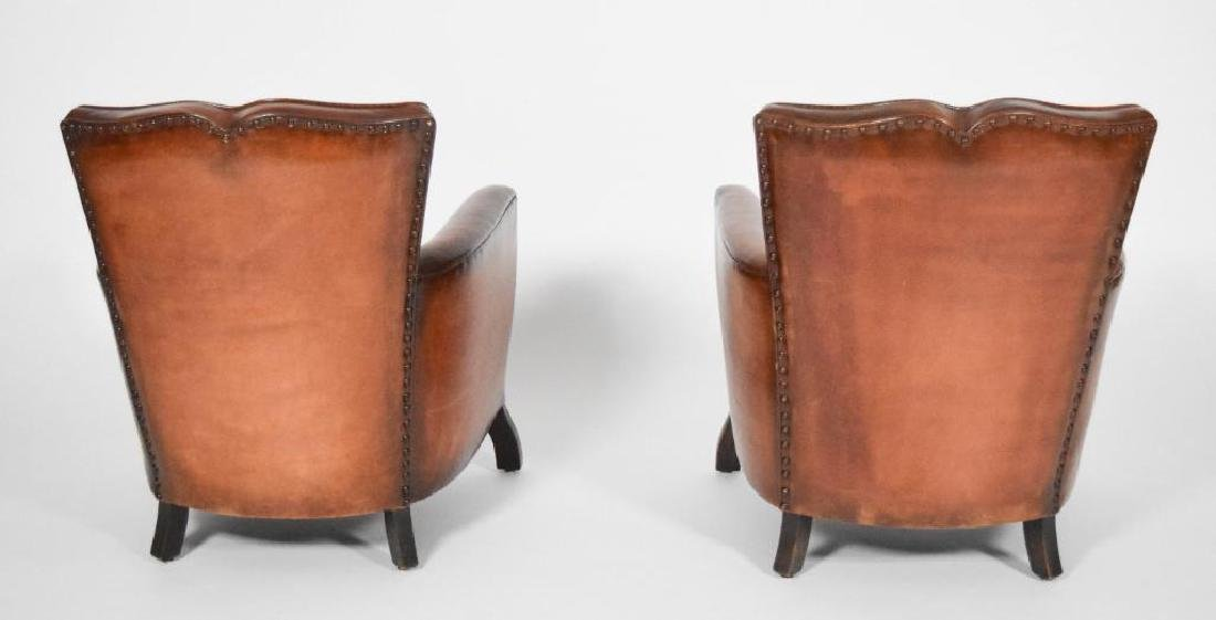 Pair of Leather and Mohair Mustache Chairs - 3