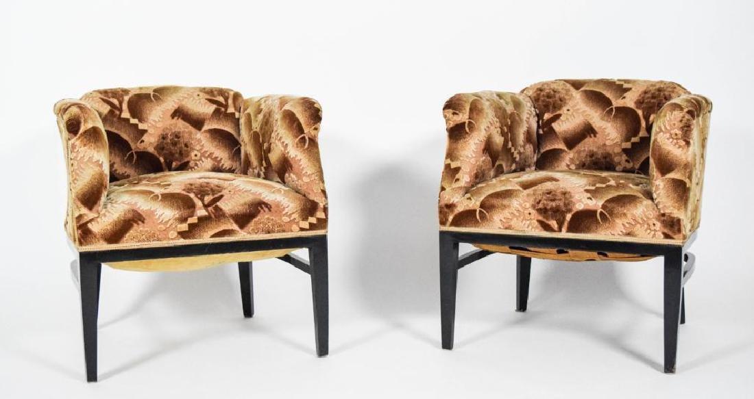 Pair Art Deco Lounge Chairs