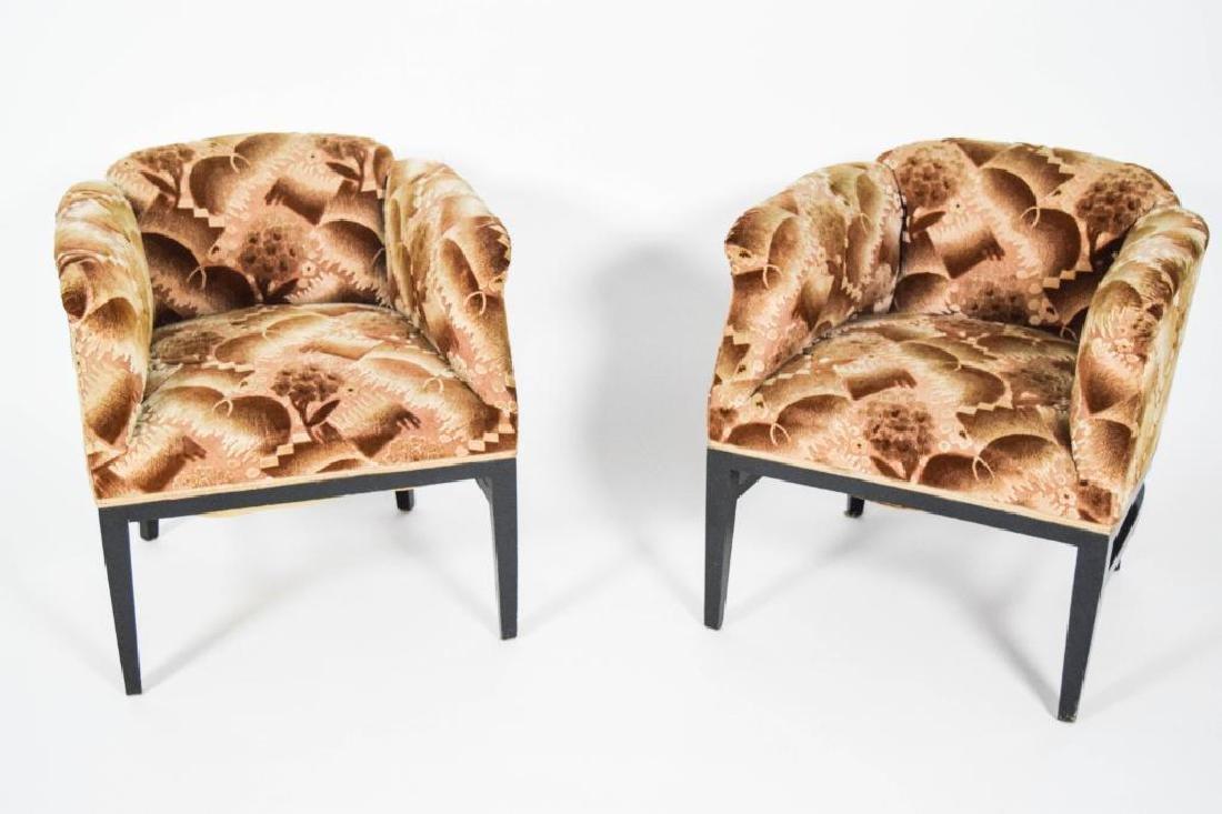Pair Art Deco Lounge Chairs - 2