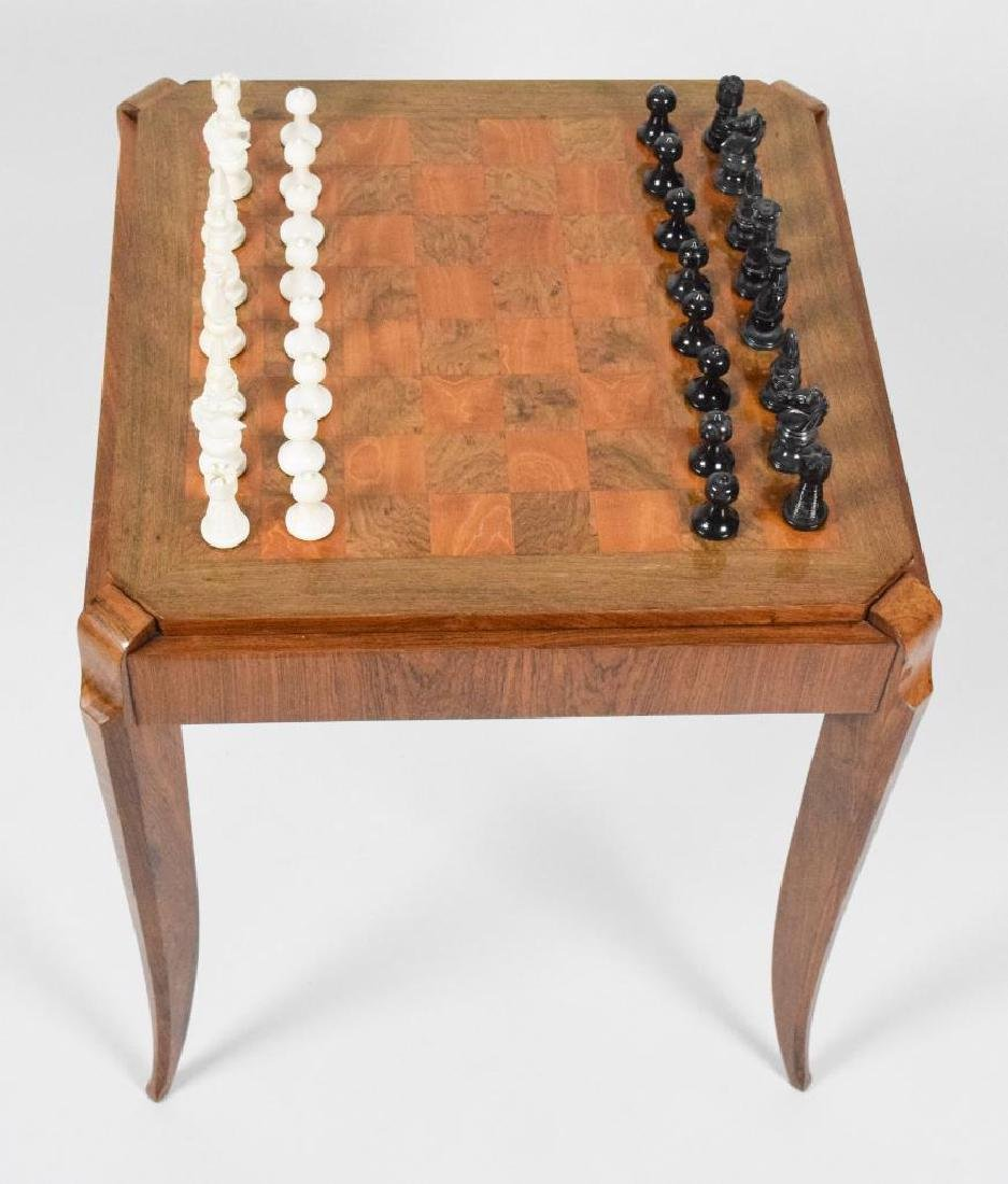 French Art Deco Wooden Game Table